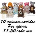 Animais sortidos para grua kit com 70